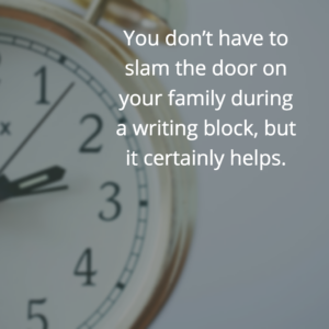 close the door during writing blocks